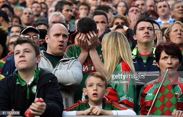 Dublin Ireland 1 October 2016 Mayo supporters near the end of play during the GAA Football AllIreland Senior Championship Final Replay match between...