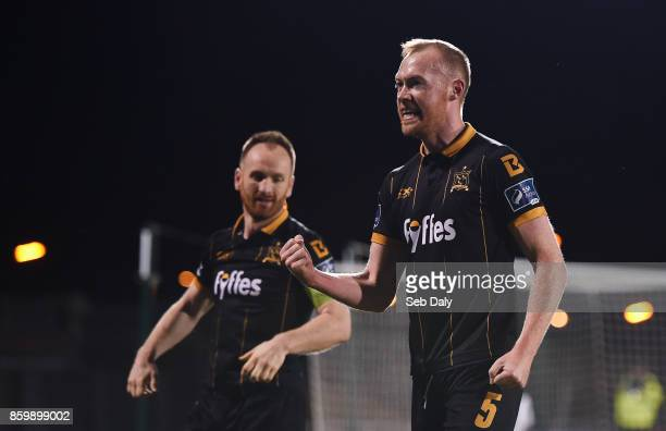Dublin Ireland 10 October 2017 Chris Shields of Dundalk celebrates following his side's victory during the Irish Daily Mail FAI Cup SemiFinal Replay...
