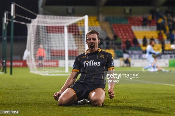 Dublin Ireland 10 October 2017 David McMillan of Dundalk celebrates after scoring his side's third goal during the Irish Daily Mail FAI Cup SemiFinal...