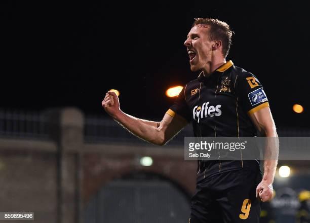 Dublin Ireland 10 October 2017 David McMillan of Dundalk celebrates following his side's victory during the Irish Daily Mail FAI Cup SemiFinal Replay...