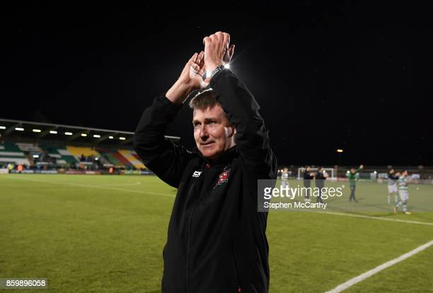 Dublin Ireland 10 October 2017 Dundalk manager Stephen Kenny following the Irish Daily Mail FAI Cup SemiFinal Replay match between Shamrock Rovers...