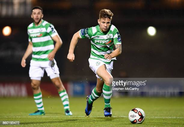 Dublin Ireland 10 October 2017 Luke Byrne of Shamrock Rovers during the Irish Daily Mail FAI Cup SemiFinal Replay match between Shamrock Rovers and...