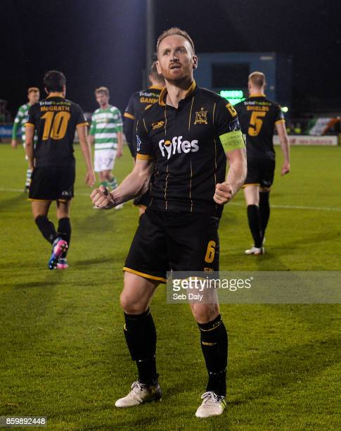 Dublin Ireland 10 October 2017 Stephen ODonnell of Dundalk celebrates after scoring his side's fourth goal during the Irish Daily Mail FAI Cup...