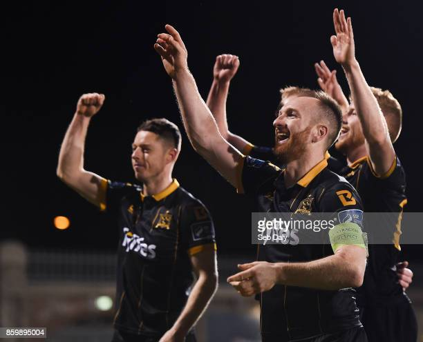 Dublin Ireland 10 October 2017 Stephen ODonnell of Dundalk celebrates following his side's victory during the Irish Daily Mail FAI Cup SemiFinal...
