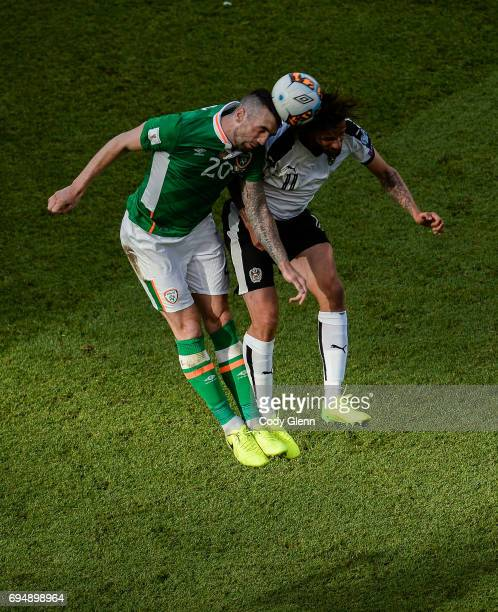 Dublin Ireland 11 June 2017 Shane Duffy of Republic of Ireland in action against Martin Harnik of Austria during the FIFA World Cup Qualifier Group D...