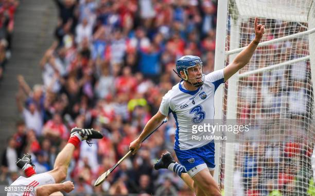 Dublin Ireland 13 August 2017 Austin Gleeson of Waterford celebrates scoring a goal in the 60th minute during the GAA Hurling AllIreland Senior...