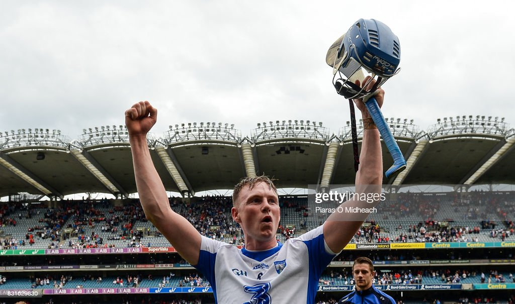 Dublin , Ireland - 13 August 2017; Austin Gleeson of Waterford celebrates after the GAA Hurling All-Ireland Senior Championship Semi-Final match between Cork and Waterford at Croke Park in Dublin.