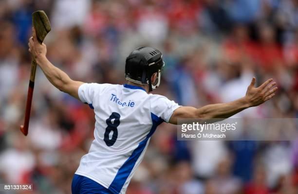 Dublin Ireland 13 August 2017 Jamie Barron of Waterford celebrates scoring his side's fourth goal during the GAA Hurling AllIreland Senior...