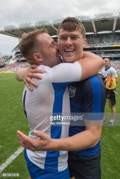 Dublin Ireland 13 August 2017 Noel Connors of Waterford with his suspended team mate Tadhg de Búrca after the GAA Hurling AllIreland Senior...