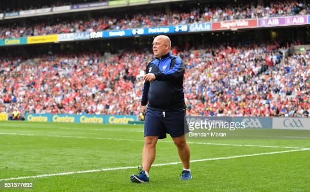 Dublin Ireland 13 August 2017 Waterford manager Derek McGrath during the GAA Hurling AllIreland Senior Championship SemiFinal match between Cork and...