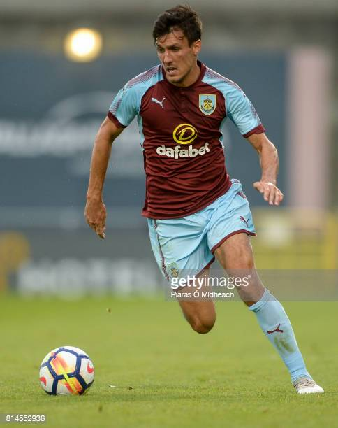 Dublin Ireland 14 July 2017 Jack Cork of Burnley during the Friendly match between Shamrock Rovers XI and Burnley at Tallaght Stadium in Tallaght Co...