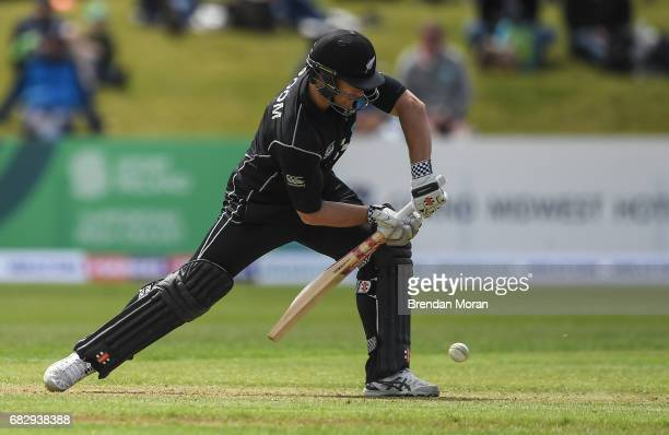Dublin Ireland 14 May 2017 Neil Broom of New Zealand during the One Day International match between Ireland and New Zealand at Malahide Cricket Club...