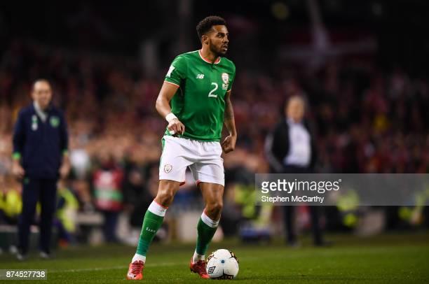 Dublin Ireland 14 November 2017 Cyrus Christie of Republic of Ireland during the FIFA 2018 World Cup Qualifier Playoff 2nd leg match between Republic...