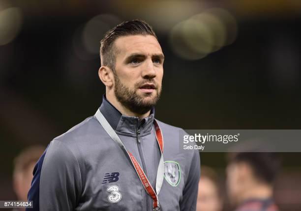 Dublin Ireland 14 November 2017 Shane Duffy of Republic of Ireland prior to the FIFA 2018 World Cup Qualifier Playoff 2nd leg match between Republic...