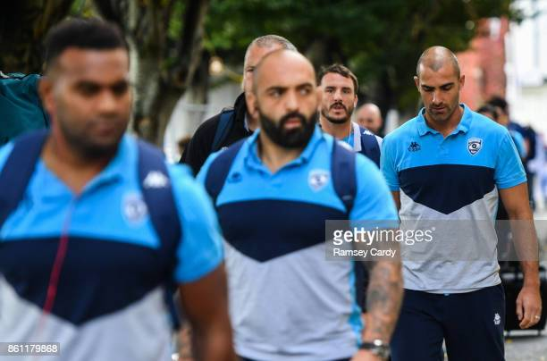 Dublin Ireland 14 October 2017 Ruan Pienaar of Montpellier arrives ahead of the European Rugby Champions Cup Pool 3 Round 1 match between Leinster...