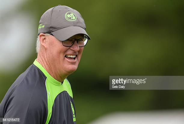 Dublin Ireland 16 June 2016 Ireland head coach John Bracewell ahead of the One Day International match between Ireland and Sri Lanka at Malahide...