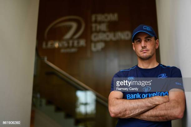 Dublin Ireland 16 October 2017 Leinster backs coach Girvan Dempsey poses for a portrait following a press conference at Leinster Rugby Headquarters...