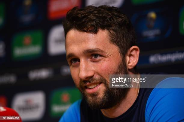 Dublin Ireland 16 October 2017 Leinster's Barry Daly during a press conference at Leinster Rugby Headquarters in Dublin