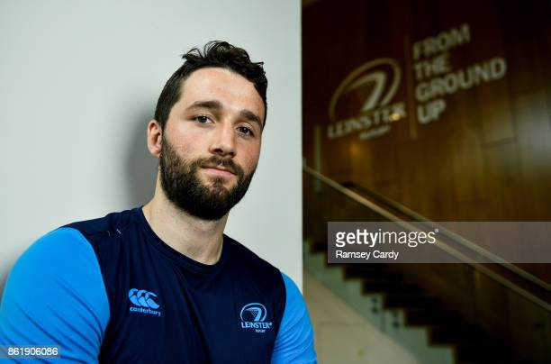Dublin Ireland 16 October 2017 Leinster's Barry Daly poses for a portrait following a press conferenceat Leinster Rugby Headquarters in Dublin
