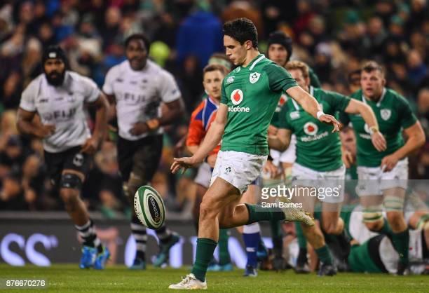 Dublin Ireland 18 November 2017 Joey Carbery of Ireland during the Guinness Series International match between Ireland and Fiji at the Aviva Stadium...