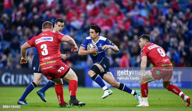 Dublin Ireland 19 May 2017 Joey Carbery of Leinster during the Guinness PRO12 SemiFinal match between Leinster and Scarlets at the RDS Arena in Dublin