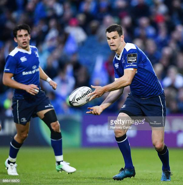 Dublin Ireland 19 May 2017 Jonathan Sexton of Leinster during the Guinness PRO12 SemiFinal match between Leinster and Scarlets at the RDS Arena in...