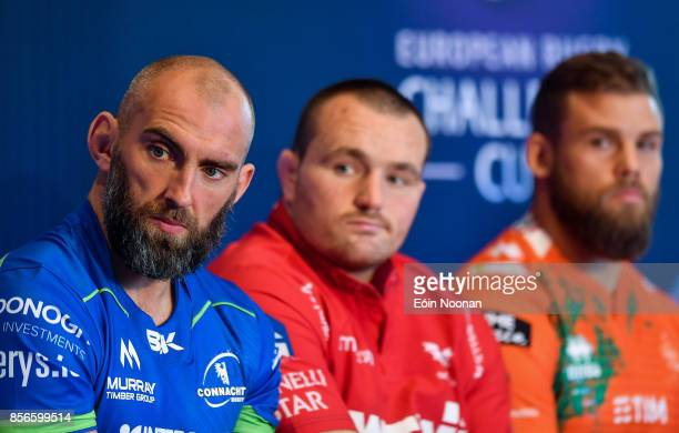Dublin Ireland 2 October 2017 Connacht captain John Muldoon in attendance at the European Rugby Champions Cup and Challenge Cup 2017/18 season launch...