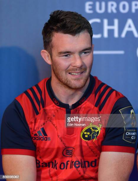 Dublin Ireland 2 October 2017 Peter O'Mahony of Munster in attendance at the European Rugby Champions Cup and Challenge Cup 2017/18 season launch for...