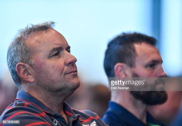 Dublin Ireland 2 October 2017 Scarlets head coach Wayne Pivac at the European Rugby Champions Cup and Challenge Cup 2017/18 season launch for PRO14...