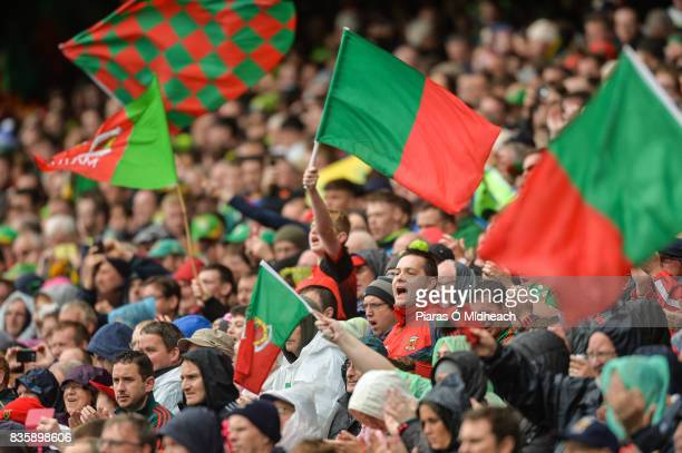 Dublin Ireland 20 August 2017 Mayo supporters during the GAA Football AllIreland Senior Championship SemiFinal match between Kerry and Mayo at Croke...