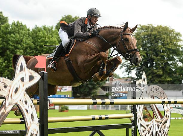 Dublin Ireland 20 July 2016 Francis Connors Ireland competing on Erne Lady Goldilocks during the Sports Ireland Classic at the Dublin Horse Show in...