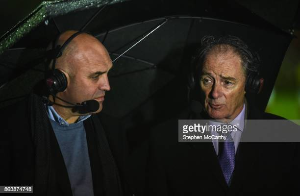 Dublin Ireland 20 October 2017 Former St Patrick's Athletic managers Brian Kerr right and Johnny McDonnell during the SSE Airtricity League Premier...