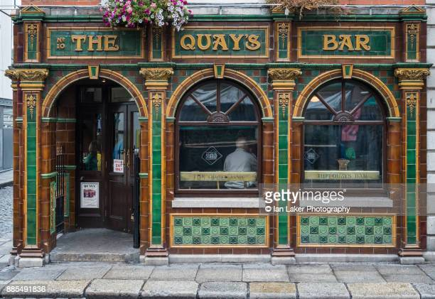 Dublin, Ireland. 21 August 2017. View of the Quay's Bar in the Temple Bar area of Dublin, Southern Ireland.