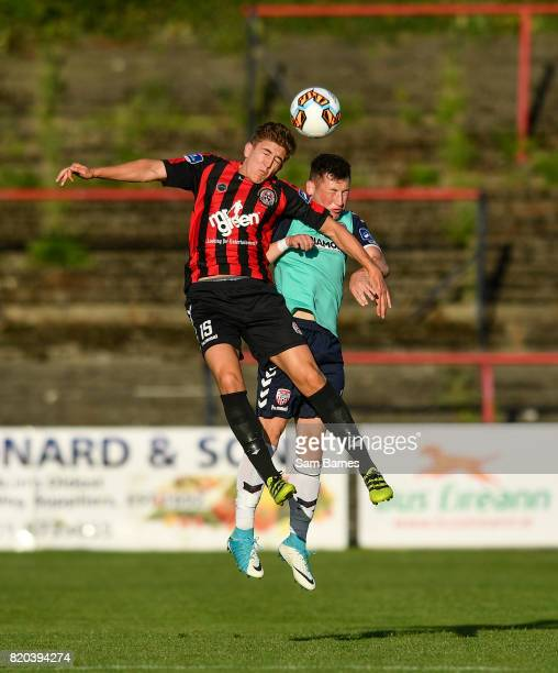 Dublin Ireland 21 July 2017 Oscar Brennan of Bohemians in action against Conor McDermott of Derry City during the SSE Airtricity League Premier...
