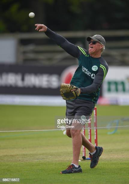Dublin Ireland 21 May 2017 Ireland coach John Bracewell before the One Day International match between Ireland and New Zealand at Malahide Cricket...