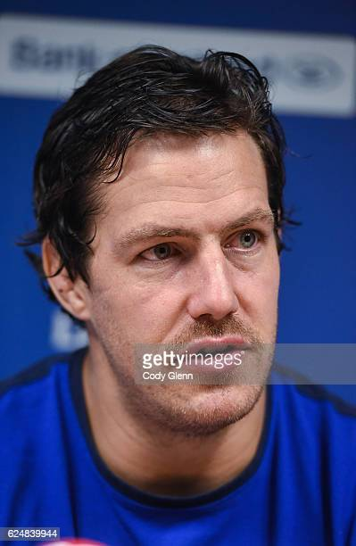 Dublin Ireland 21 November 2016 Mike McCarthy of Leinster during a press conference at UCD in Dublin