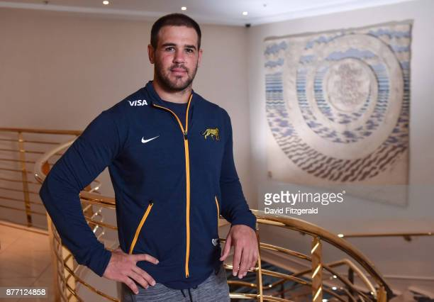 Dublin Ireland 21 November 2017 Benjamin Macome poses for a portrait following an Argentina Rugby press conference at the Conrad Hotel in Dublin