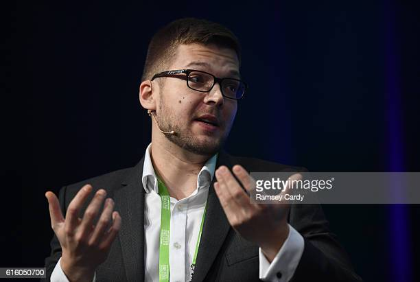 Dublin Ireland 21 October 2016 Hannes Kranich eSport Specialist at Draft Kings speaking during the One Zero Conference at the RDS in Dublin