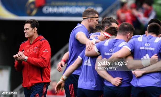 Dublin Ireland 22 April 2017 Munster Director of Rugby Rassie Erasmus ahead of the European Rugby Champions Cup SemiFinal match between Munster and...