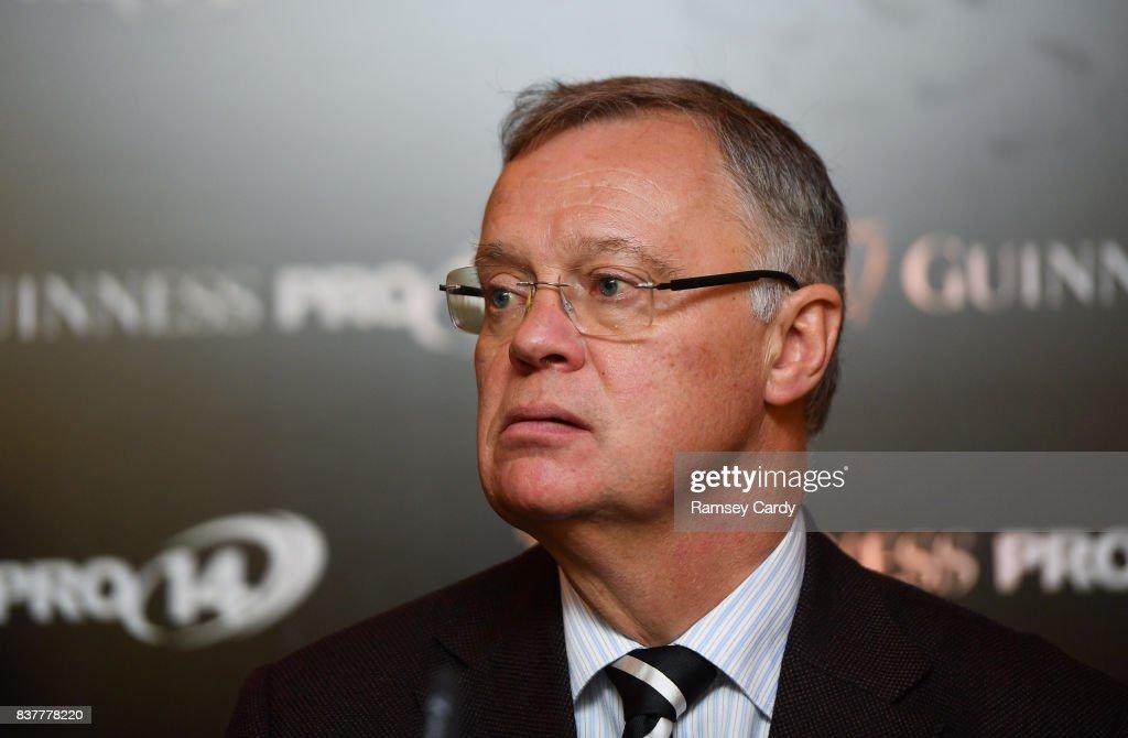 Dublin , Ireland - 23 August 2017; David Jordan, Tournament Director, PRO14 Rugby, at the Guinness PRO14 season launch at the Aviva Stadium in Dublin.