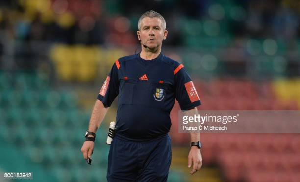 Dublin Ireland 23 June 2017 Referee Sean Grant during the SSE Airtricity League Premier Division match between Shamrock Rovers and Drogheda United at...