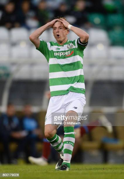 Dublin Ireland 23 June 2017 Ronan Finn of Shamrock Rovers reacts after a missed chance during the SSE Airtricity League Premier Division match...