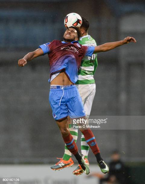 Dublin Ireland 23 June 2017 Ryan Masterson of Drogheda United in action against David Webster of Shamrock Rovers during the SSE Airtricity League...