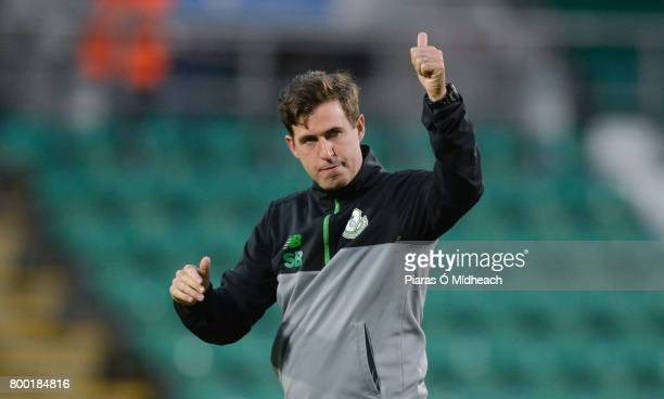 Dublin Ireland 23 June 2017 Shamrock Rovers manager Stephen Bradley acknowledges supporters after the SSE Airtricity League Premier Division match...