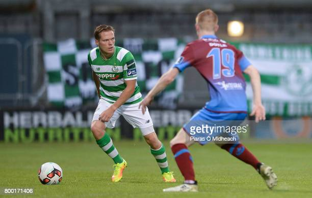 Dublin Ireland 23 June 2017 Simon Madden of Shamrock Rovers in action against Mark Doyle of Drogheda United during the SSE Airtricity League Premier...