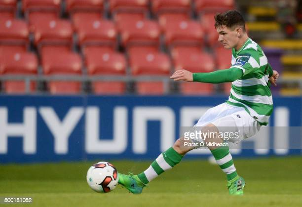 Dublin Ireland 23 June 2017 Trevor Clarke of Shamrock Rovers scores his side's second goal during the SSE Airtricity League Premier Division match...