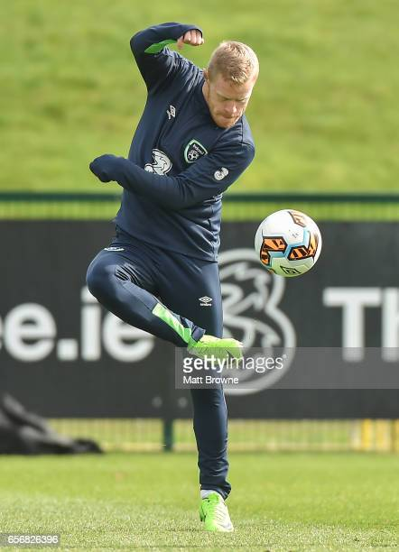 Dublin Ireland 23 March 2017 Daryl Horgan of the Republic of Ireland during squad training at the FAI National Training Centre in Abbotstown Co Dublin