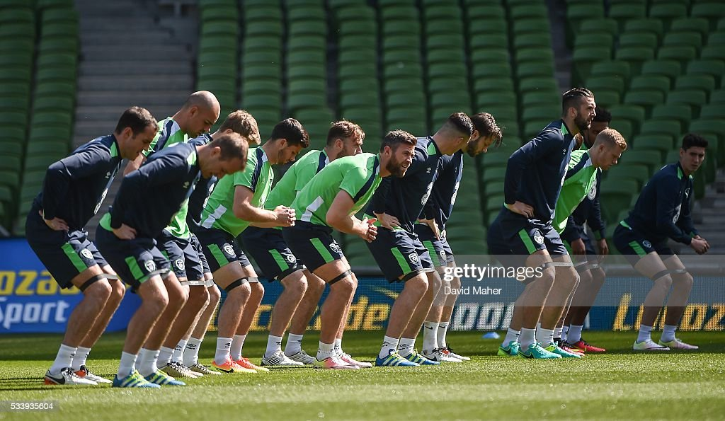 Dublin , Ireland - 24 May 2016; A general view of Republic of Ireland players during squad training in the Aviva Stadium, Lansdowne Road, Dublin.