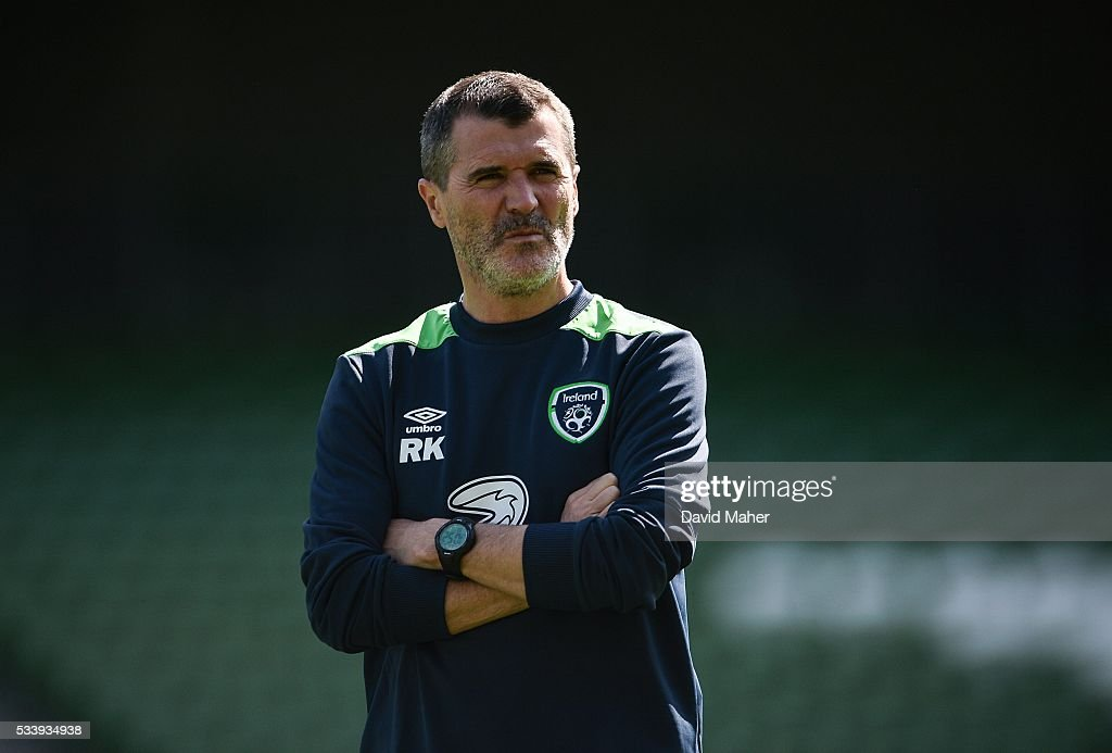 Dublin , Ireland - 24 May 2016; Republic of Ireland assistant manager <a gi-track='captionPersonalityLinkClicked' href=/galleries/search?phrase=Roy+Keane&family=editorial&specificpeople=171835 ng-click='$event.stopPropagation()'>Roy Keane</a> during squad training in the Aviva Stadium, Lansdowne Road, Dublin.