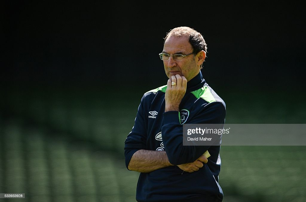Dublin , Ireland - 24 May 2016; Republic of Ireland manager <a gi-track='captionPersonalityLinkClicked' href=/galleries/search?phrase=Martin+O%27Neill&family=editorial&specificpeople=201190 ng-click='$event.stopPropagation()'>Martin O'Neill</a> during squad training in the Aviva Stadium, Lansdowne Road, Dublin.